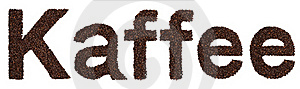 Kaffee Sign From Coffee Beans Stock Photos - Image: 15990863