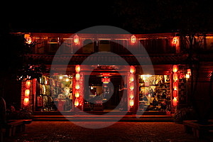 Night Scene In Dayan Old Town Royalty Free Stock Photo - Image: 15993255