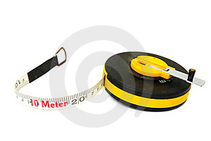 Measuring Tool A Roulette Stock Photography - Image: 15993512