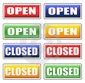 Open And Closed Signs Stock Images - Image: 15994594