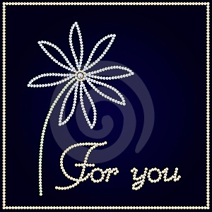 Brilliant Flower With Text For You Stock Image - Image: 15994601