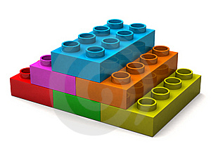 Pyramid From Toy Bricks Royalty Free Stock Images - Image: 15995209