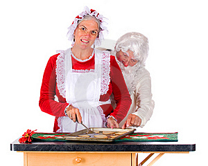 Santa Snitching Stock Images - Image: 15996324