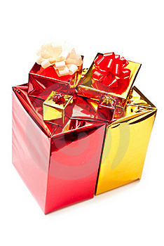 Yellow And Red Gifts Boxes Stock Photos - Image: 15997863