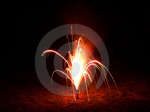 Red Fireworks Stock Photos