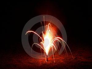 Rote Feuerwerke Stockfotos