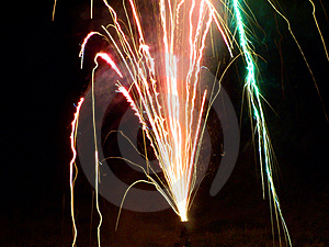 Multi-color Fireworks Free Stock Image