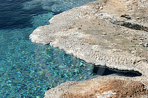 Yellowstone turquoise Royalty Free Stock Photo