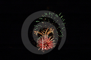 Bombs Bursting In Air Free Stock Photography