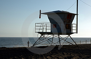 Life-guard house Stock Images