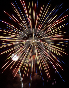 Feuerwerks-Show VII Lizenzfreies Stockbild