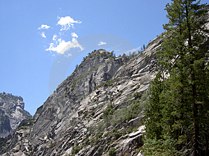 Yosemite Mountainside Free Stock Photos