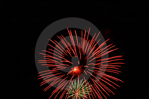 Bombs Bursting In Air Stock Photo