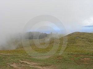 Остров пасхи - Маунт Terevaka Стоковое Фото
