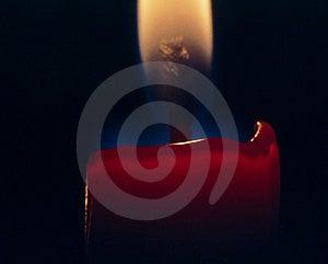 Красная свечка Стоковое Изображение RF
