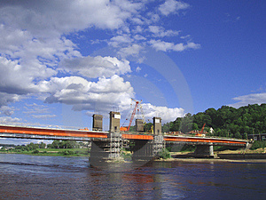 Brige en construction Image stock