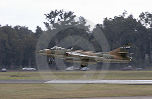 Hawker Hunter Landing Stock Photo