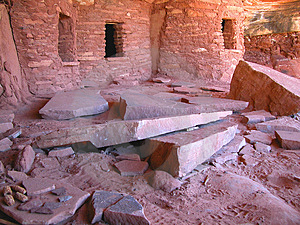 Corn Cob Anasazi Abandoned Site Stock Photo
