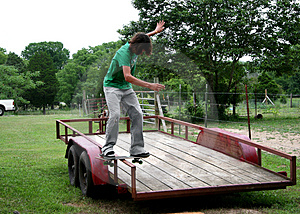 Board Sliding Trailor Free Stock Image