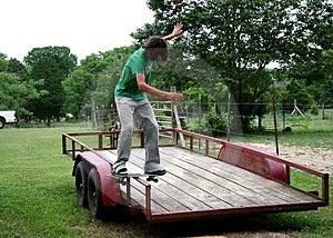 Board Sliding Trailor Royalty Free Stock Image