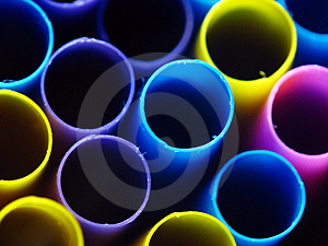 Dark Straws Stock Image