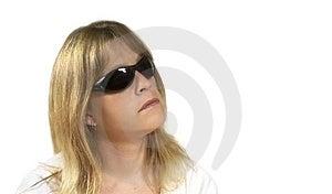 Frau mit Gläsern Stockbilder