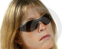 Frau mit Gläsern Lizenzfreies Stockfoto
