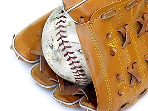 Stock Image: Ball And Glove #2 Picture. Image: 168451