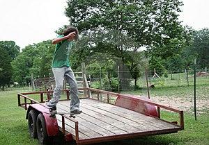 Board Sliding Rail Stock Photography