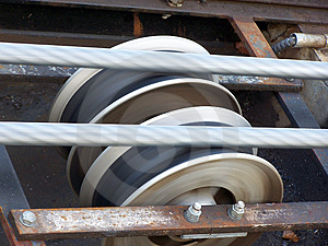 Wires & Wheels Free Stock Image