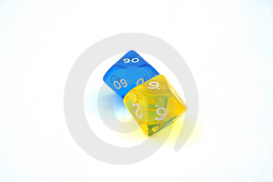 Two Bright Dices Stock Photography
