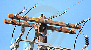 Electric Utility Pole Royalty Free Stock Image - Image: 1602966