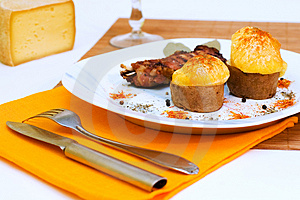 Baked Pork Ribs With Potato Stock Photography - Image: 1608052