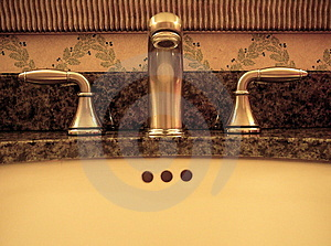 Bathroom Faucet and Sink Stock Images