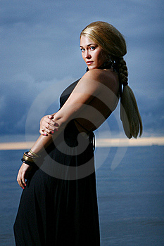 Sexy And Luxury Woman On The Sunset Backgroung Stock Photos - Image: 16000053