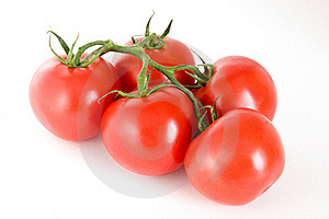 Five Tomatoes On A Stem Stock Photography - Image: 16003512