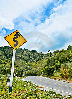 Curve Road Royalty Free Stock Photos - Image: 16004588