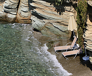 Beach Beds In Paradise Stock Image - Image: 16005681