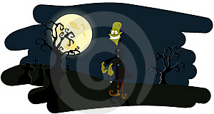 The Zombie On A Night Background Stock Images - Image: 16006424