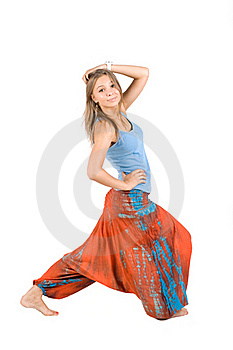 Girl In Ethnic Clothes Stock Photo - Image: 16006630