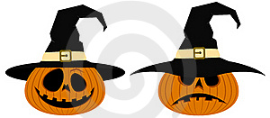 Pumpkins In A Hat Royalty Free Stock Photography - Image: 16006657