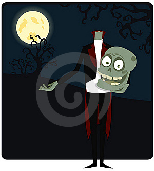 The Zombie Against The Moon Stock Photo - Image: 16006750