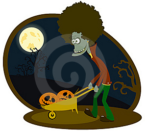 The Zombie With The Cart Stock Photo - Image: 16006810