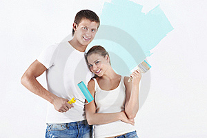 Painting Walls Royalty Free Stock Image - Image: 16007016