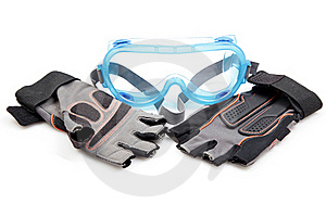 Protective Goggle And Gloves Royalty Free Stock Image - Image: 16007386