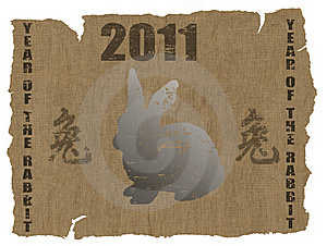 Chinese Year Of The Rabbit 2011 Royalty Free Stock Photos - Image: 16008748