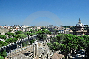View Of The Coliseum Rome Stock Images - Image: 16009194