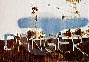 Rusty Danger Sign Stock Images - Image: 16010544
