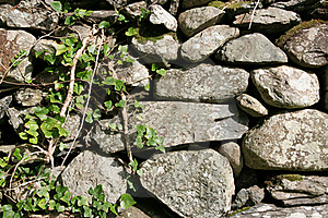 Rock Fence Background Royalty Free Stock Images - Image: 16011179