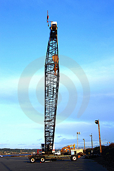 Long Arm Heavy Duty Crane. Stock Photos - Image: 16011753